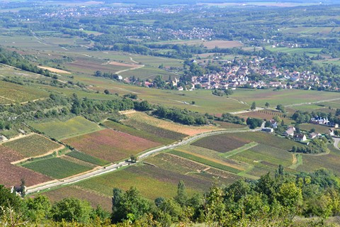 views hill cote d'or burgundy hiking trip europe